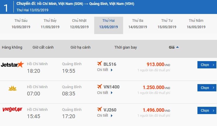 Vé máy bay từ Pleiku đi Đồng Hới của Bamboo Airways