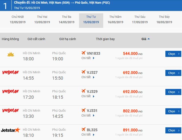 Vé máy bay từ Pleiku đi Phú Quốc của Bamboo Airways