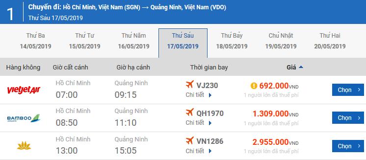 Vé máy bay từ Pleiku đi Vân Đồn của Bamboo Airways